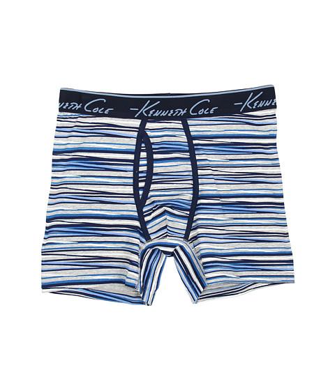 Kenneth Cole Reaction - Boxer Brief (Blue Zigzag Stripe) Men