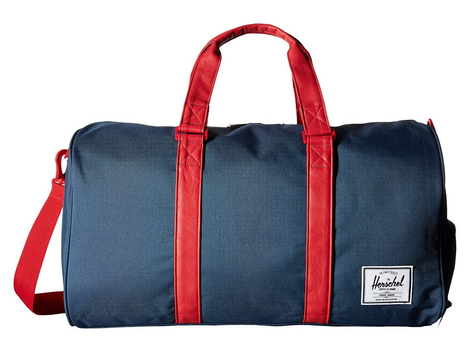 Herschel Supply Co. - Novel (Navy/Red/Red Zipper) Duffel Bags