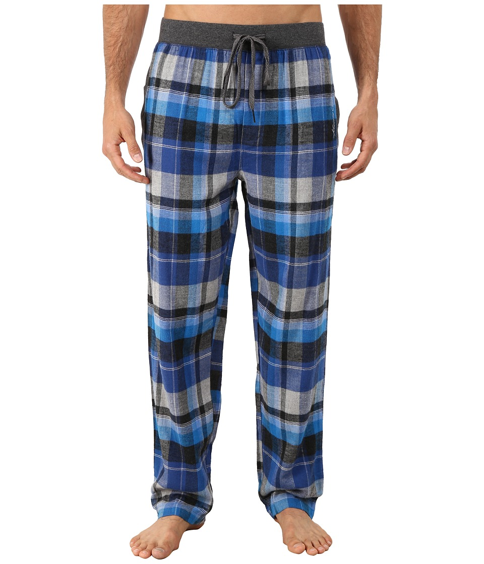 Kenneth Cole Reaction - Flannel Sleep Pants (Blue Madison Plaid) Men
