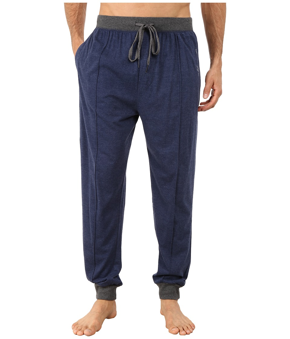 Kenneth Cole Reaction - Sueded Jersey Cuffed Pants (Medieval Blue) Men's Underwear