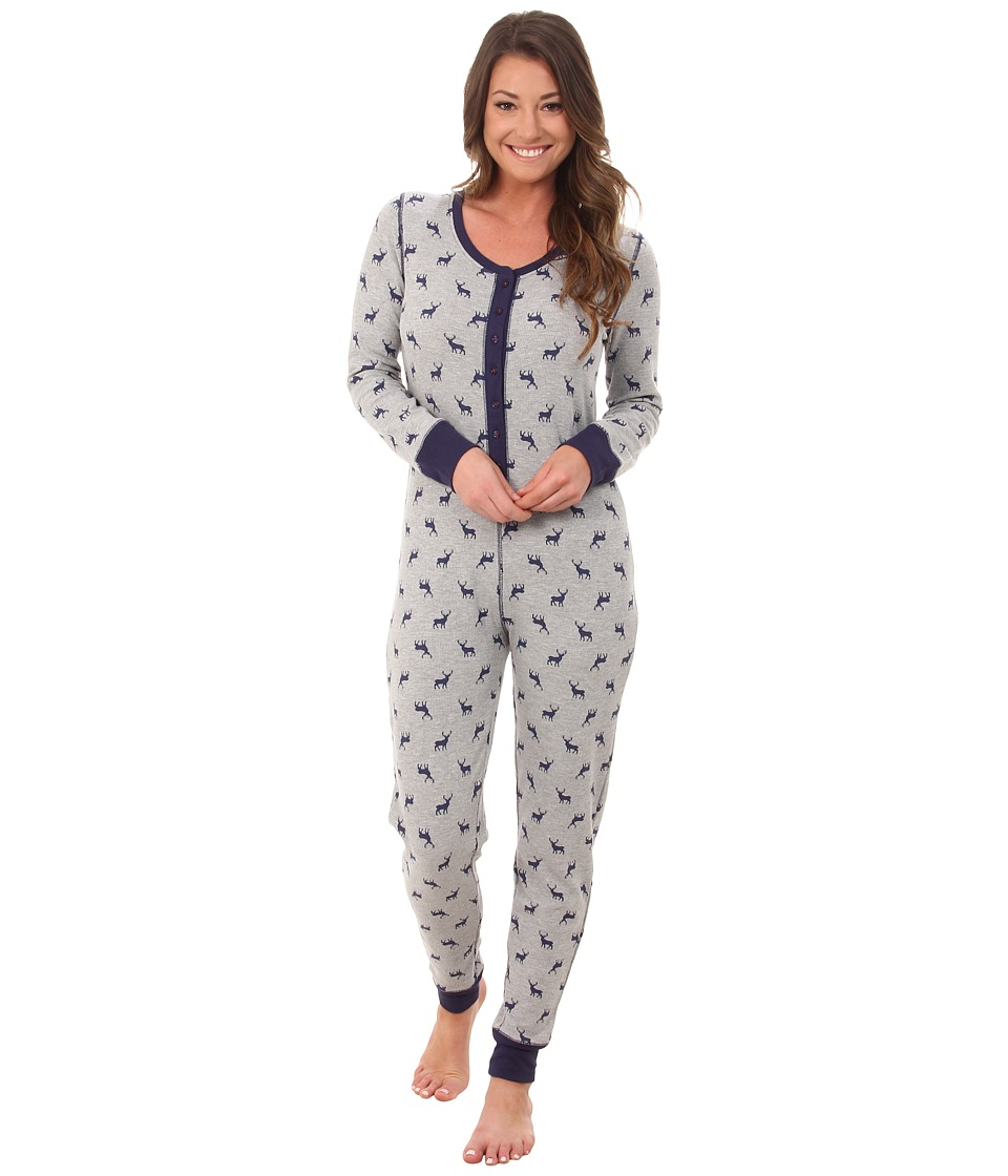 Jane & Bleecker - Thermal One-Piece 3581061 (Deer in the Distance) Women's Jumpsuit & Rompers One Piece