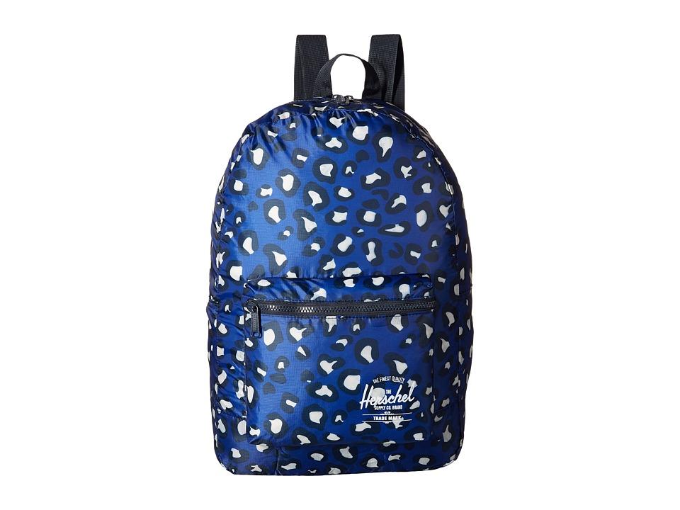 Herschel Supply Co. - Packable Daypack (Oversized Leopard Blue) Backpack Bags