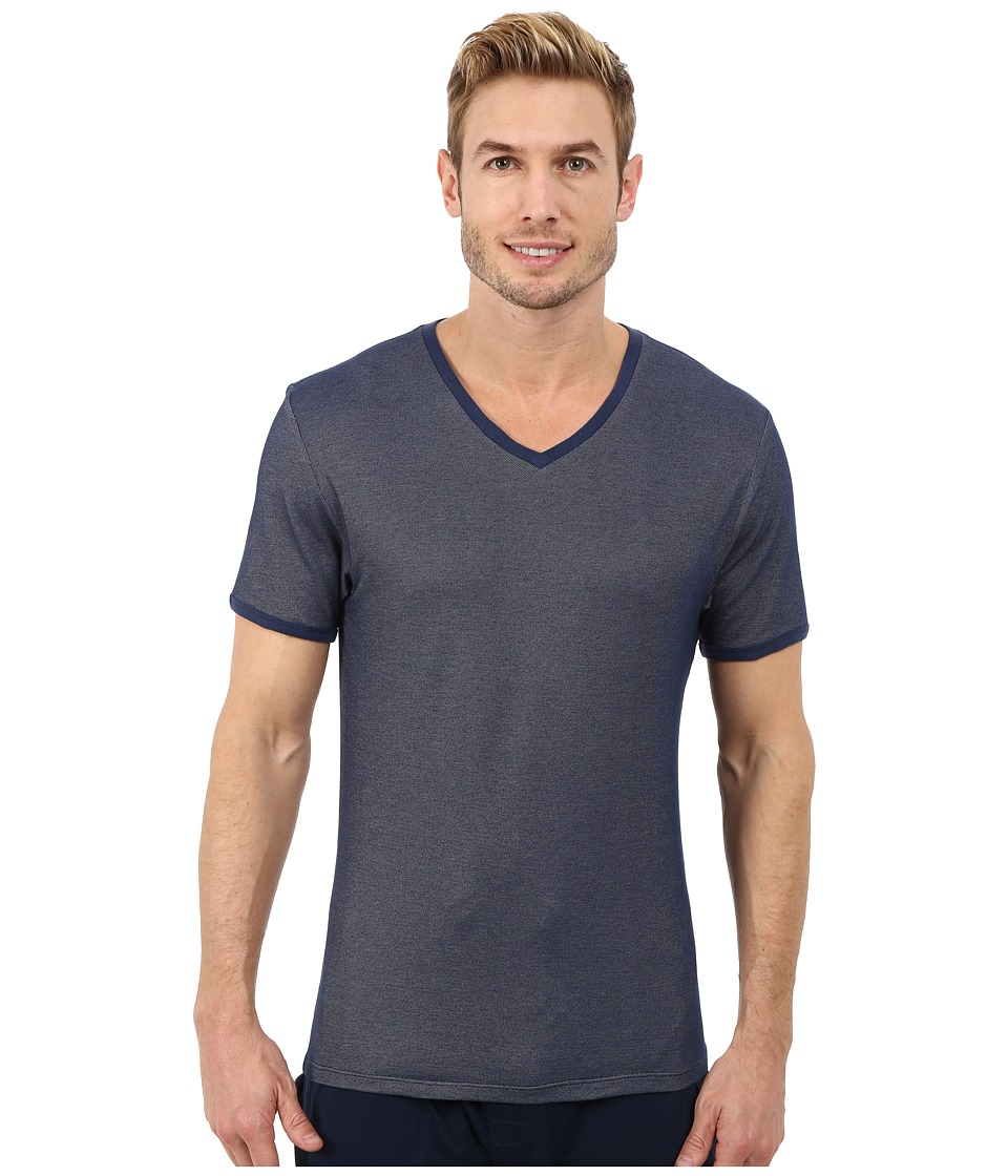 Kenneth Cole Reaction - Pique V-Neck (Medieval Blue) Men's Pajama