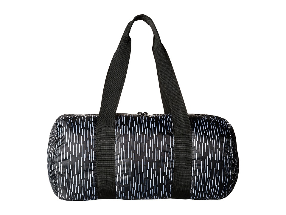 Herschel Supply Co. - Packable Duffle Bag (Black/White Rain Camo) Duffel Bags