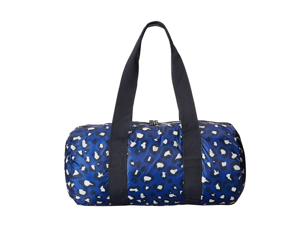 Herschel Supply Co. - Packable Duffle Bag (Oversized Leopard Blue) Duffel Bags