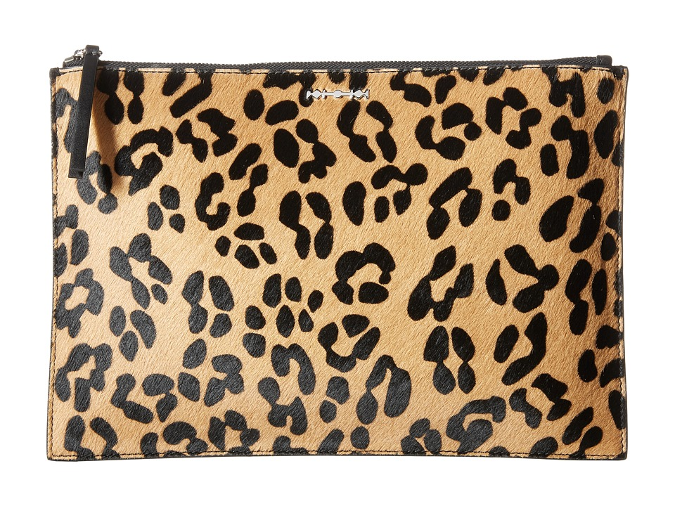 McQ - Kicks (Leopard/Black) Clutch Handbags