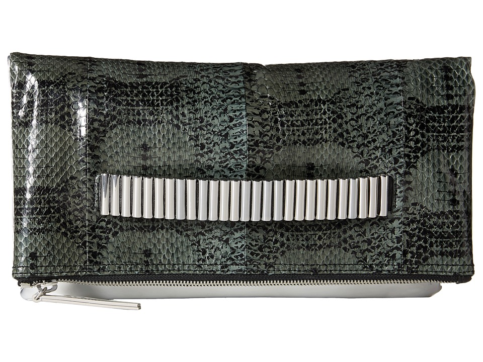 McQ - Lo Fi Fold (Dark Green/Silver/Black) Clutch Handbags