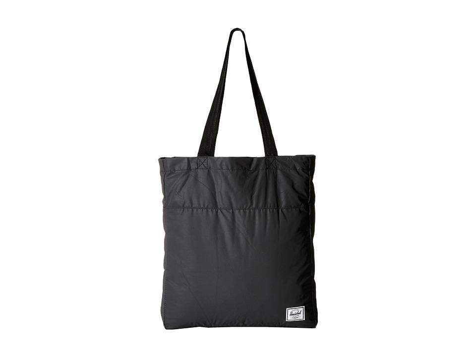 Herschel Supply Co. - Packable Travel Tote Bag (Black Reflective) Tote Handbags