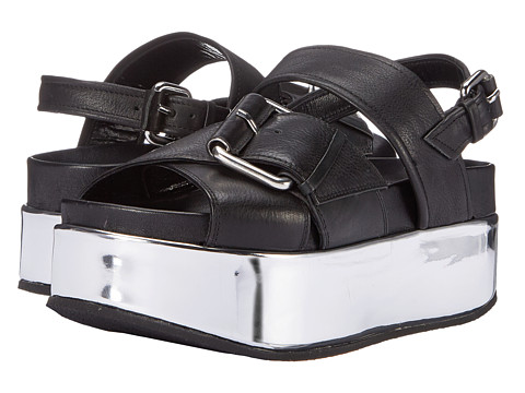 McQ - Catch Wedge Sandal (Black) Women