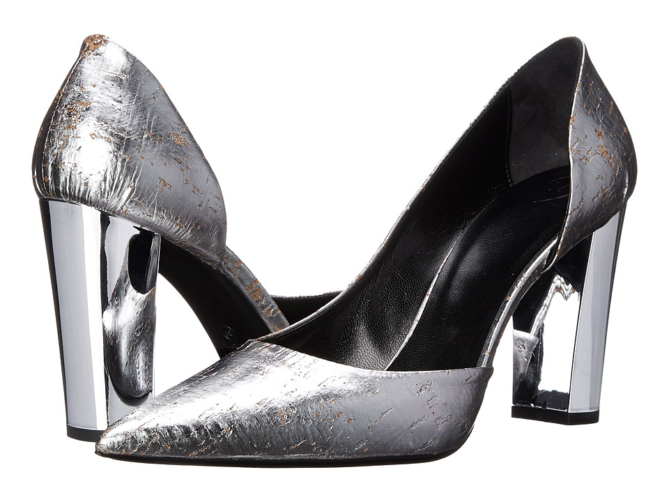 McQ - Haggerston Court (Silver Cork) High Heels