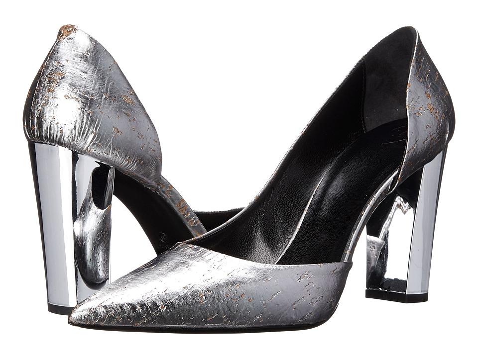 McQ - Haggerston Court (Silver Cork) High Heels