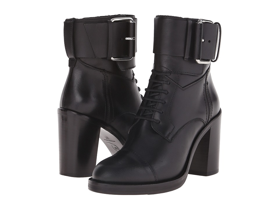 McQ - Wick Lace Up Boot (Black) Women's Lace-up Boots