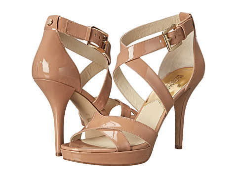 MICHAEL Michael Kors - Evie Platform (Dark Nude Patent) High Heels