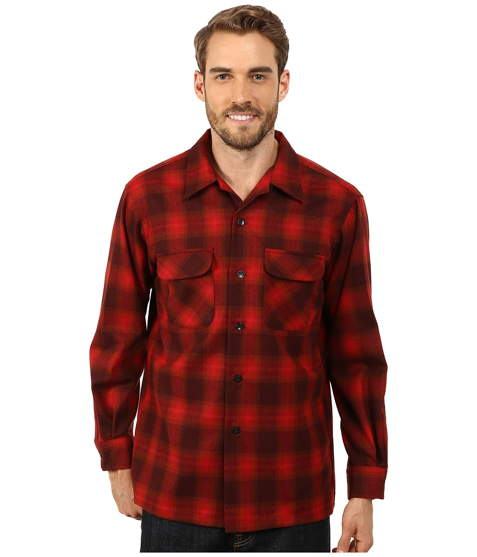 Pendleton - Board Shirt (Red/Burgundy) Men's Clothing