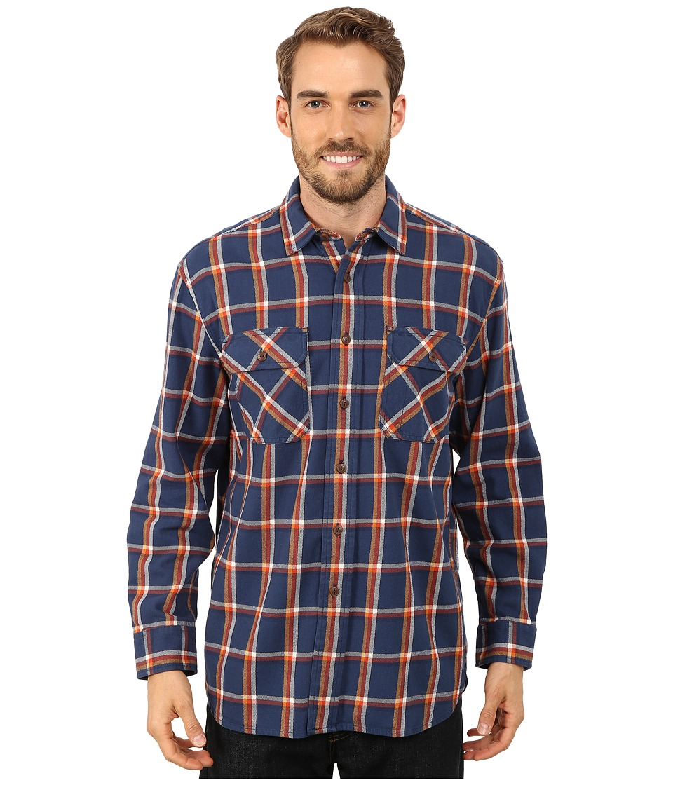 Pendleton - Burnside Shirt (Navy/Terra Cota) Men's Clothing