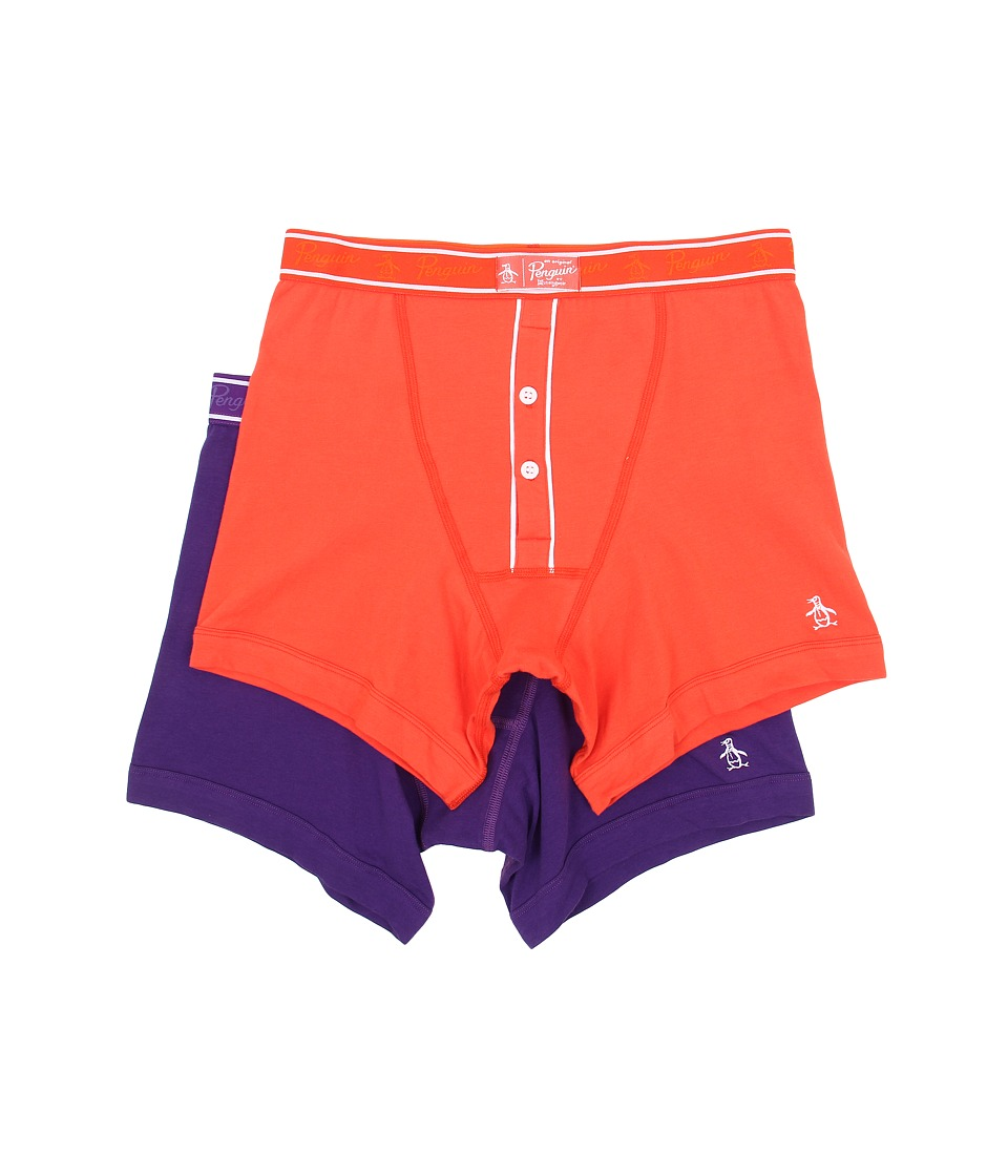 Original Penguin - 2-Pack Earl Boxer Brief (Red Clay/Tillandsia) Men's Underwear