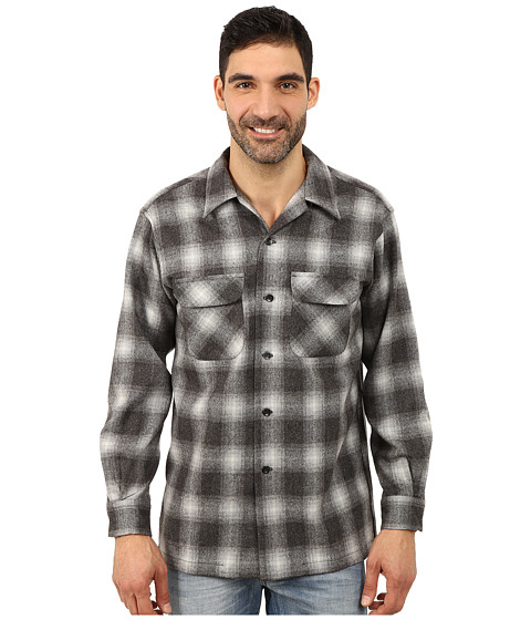 Pendleton - Board Shirt (Black/Charcoal) Men's Clothing