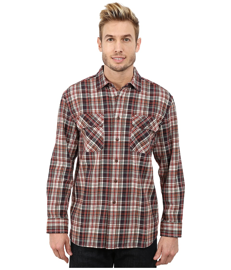 Pendleton - Burnside Shirt (Red/Green Plaid) Men's Clothing