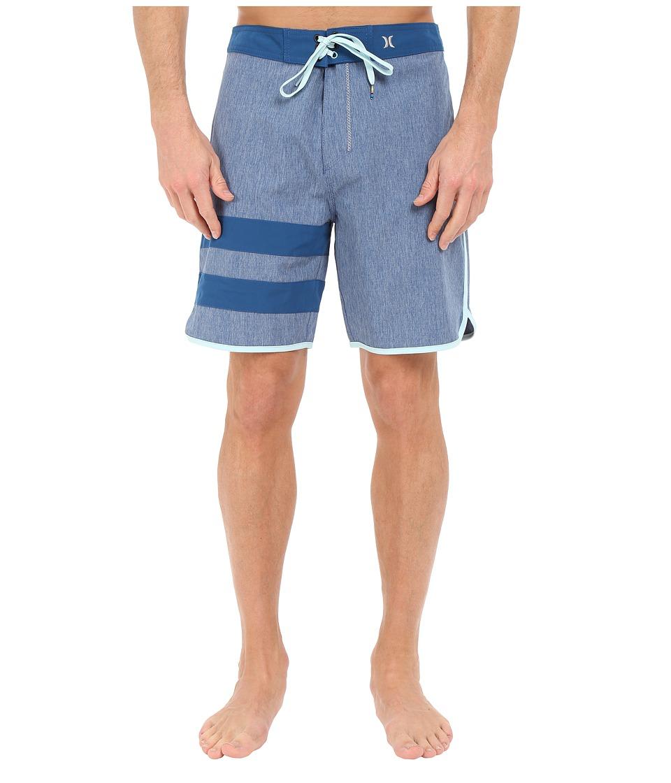 Hurley - Phantom Block Party Heather Boardshort 19 (Court Blue) Men's Swimwear