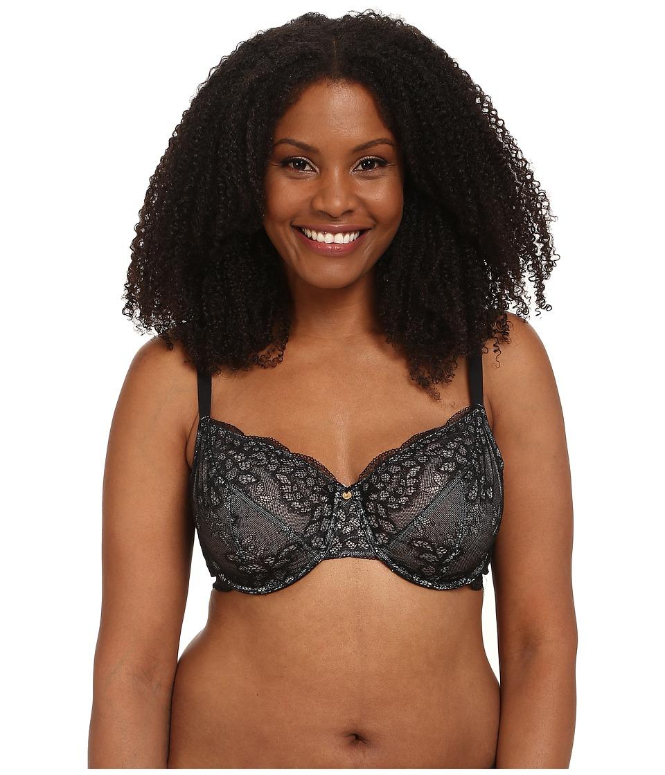 Natori - Toujours Full Figure Cut Sew Underwire Bra (Black/Silver Dusk) Women's Bra