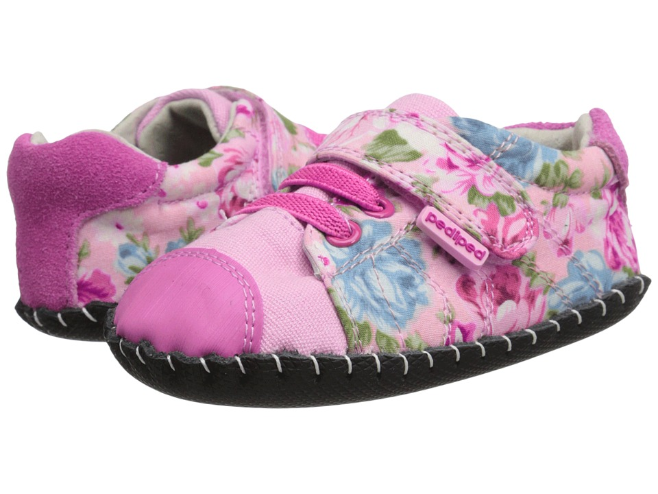 pediped - Jake Original (Infant) (Pink Floral) Girl's Shoes