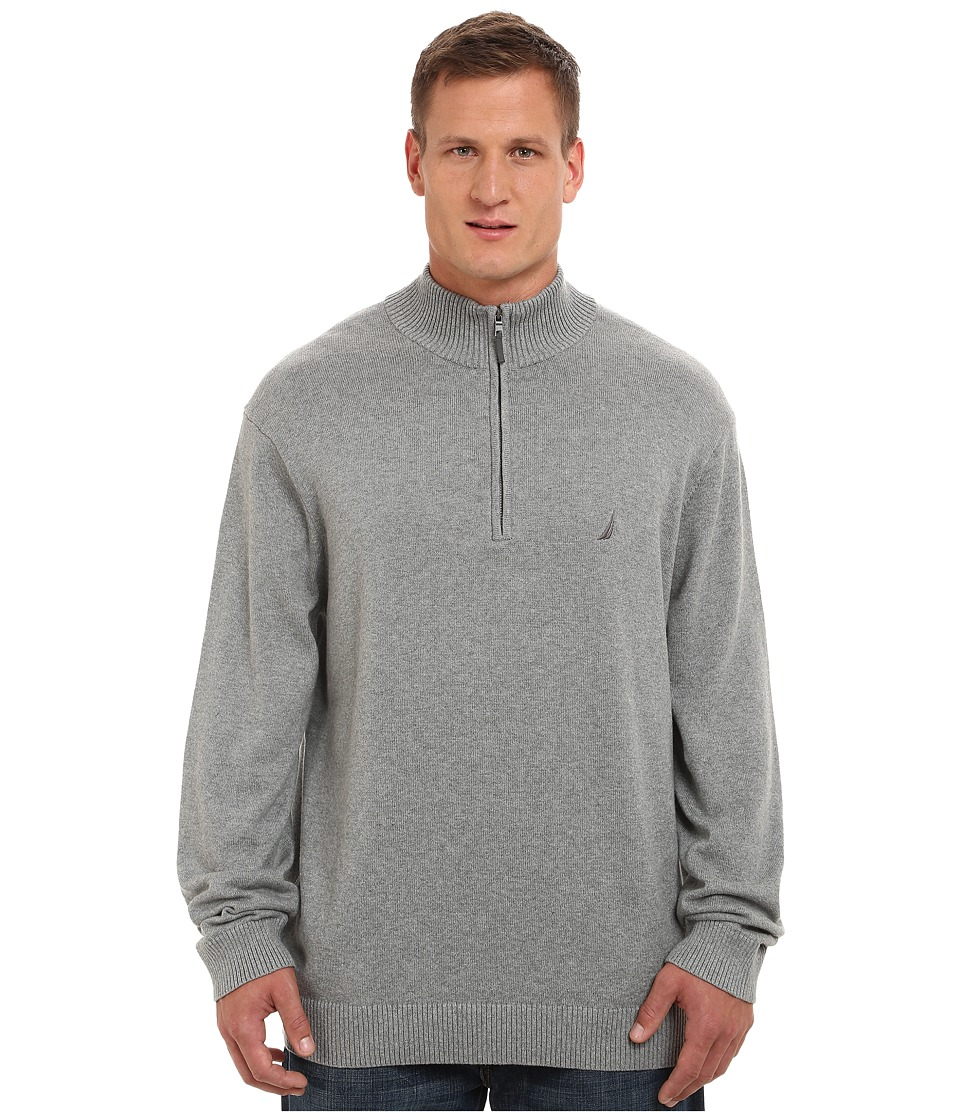 Nautica Big & Tall - Big Tall 1/4 Zip Sweater (Morgans Graphite) Men's Sweater