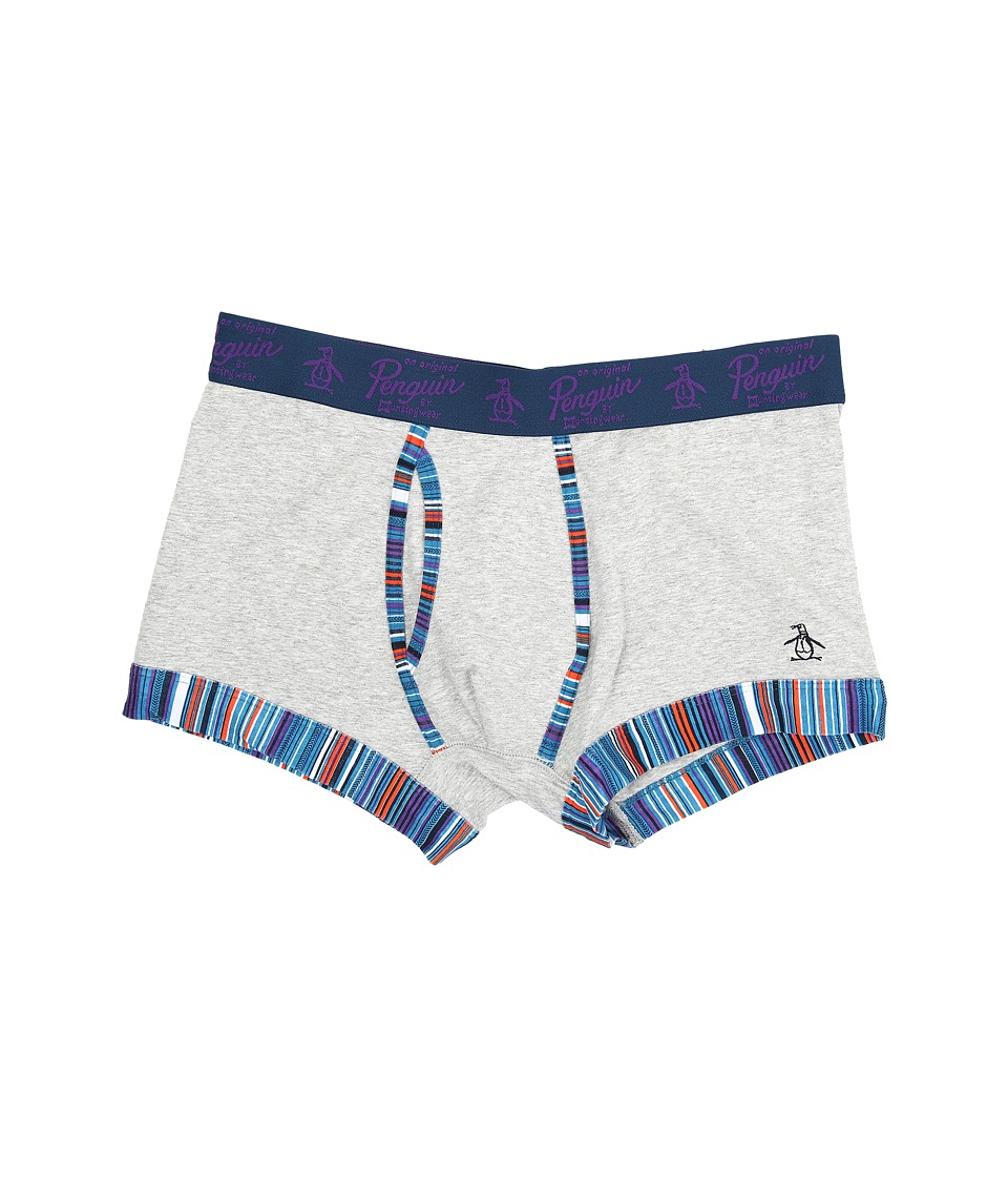 Original Penguin - Trunk (Grey Heather Trail Stripe) Men's Underwear