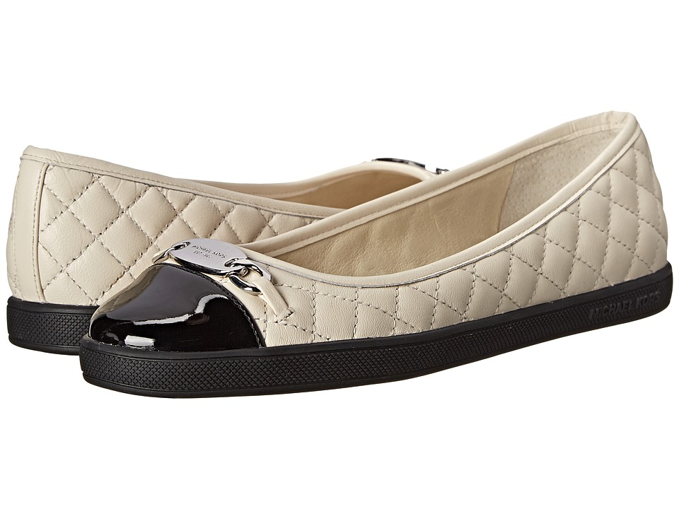 MICHAEL Michael Kors - Lainey Ballet (Ecru Nappa/Patent) Women's Slip on Shoes