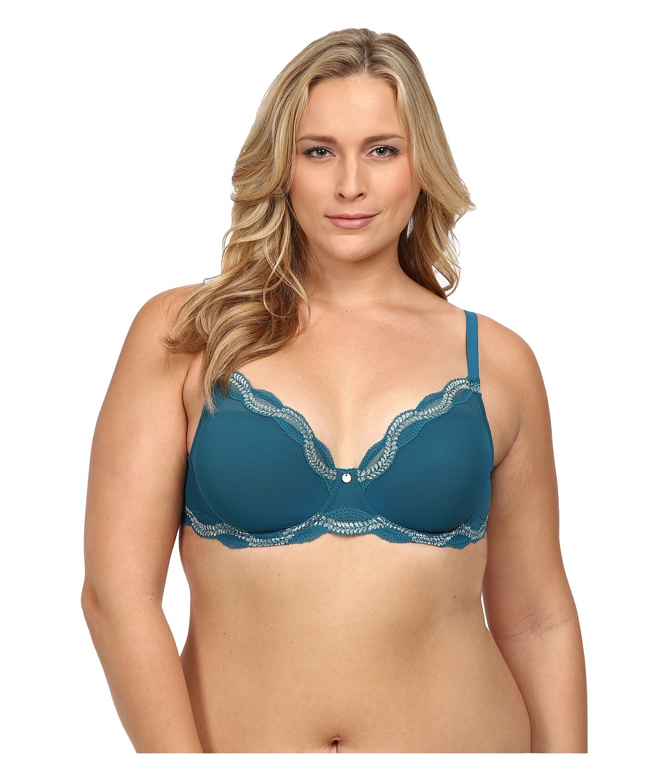 Natori - Pure Allure Full Figure Contour Underwire Bra 736099 (Winter Lake/Quartz) Women