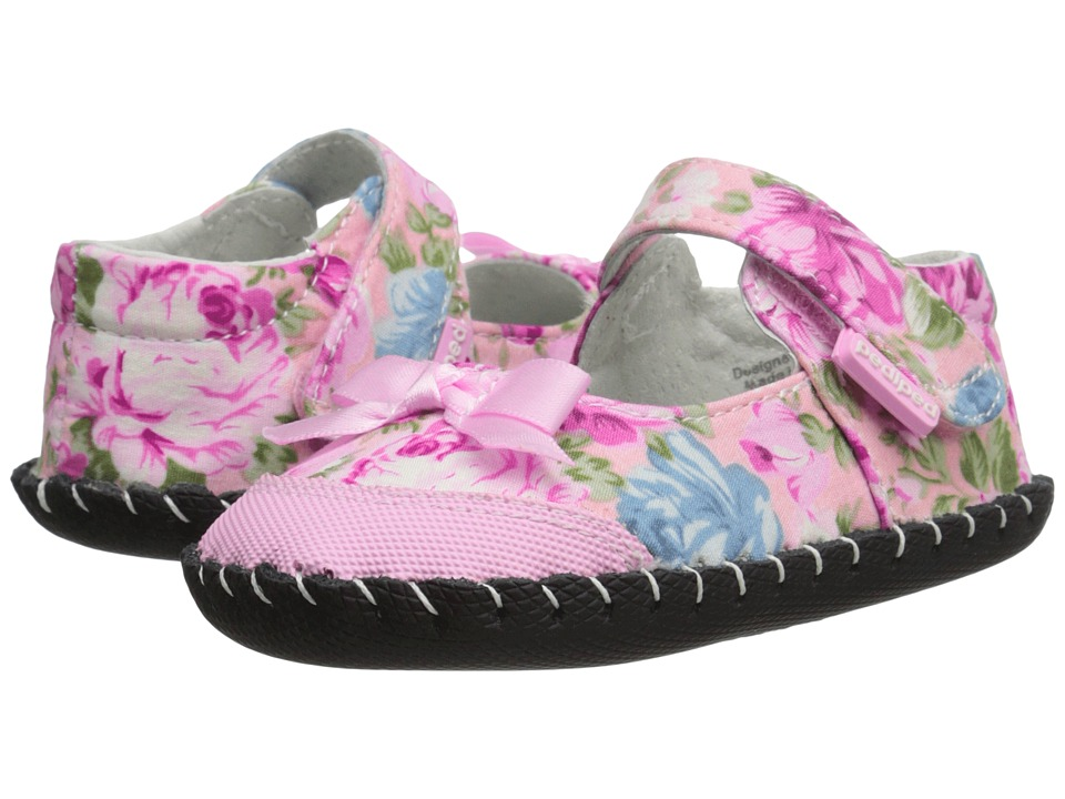 pediped - Louisa Originals (Infant) (Pink Floral) Girls Shoes