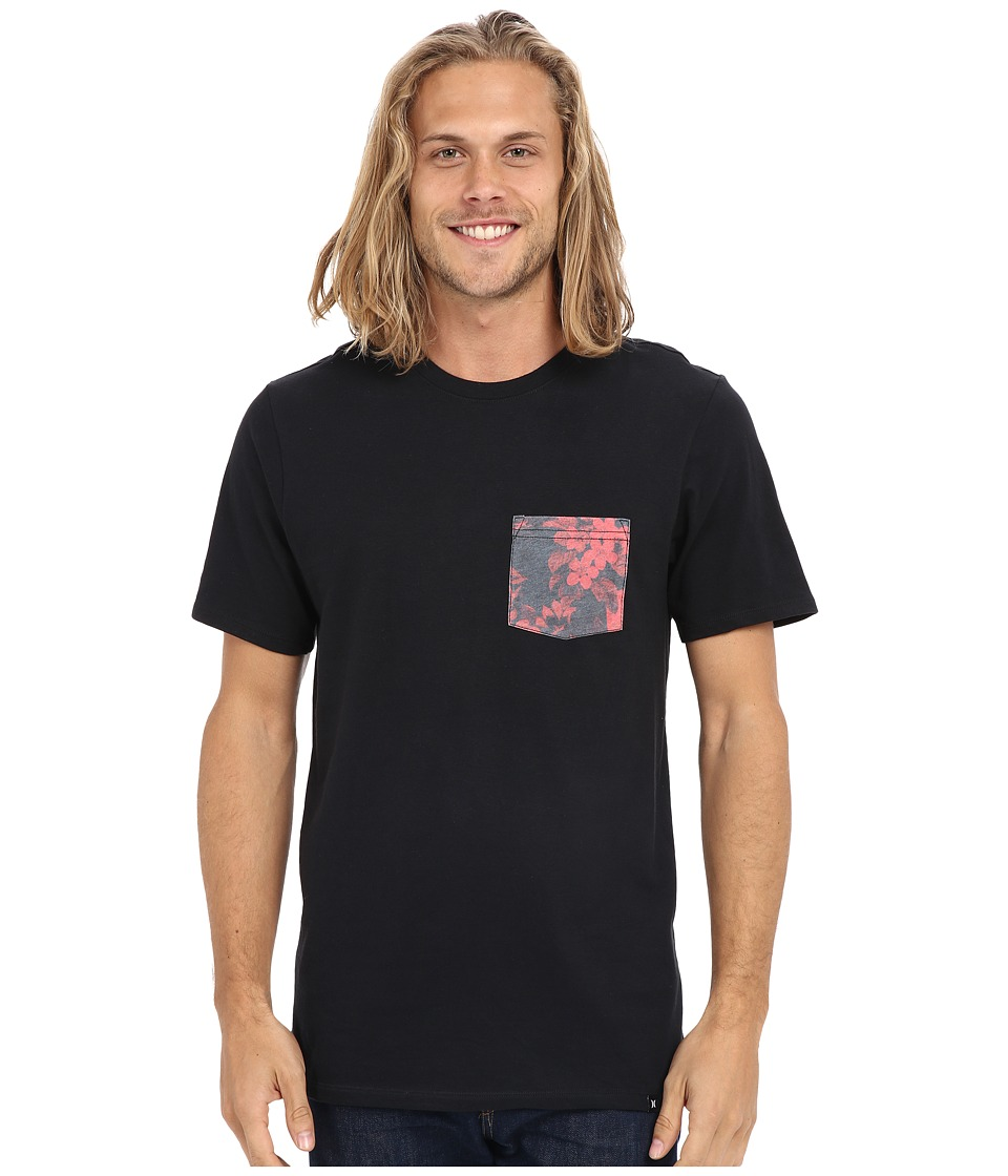 Hurley - Floral Pocket Tee (Black) Men's T Shirt