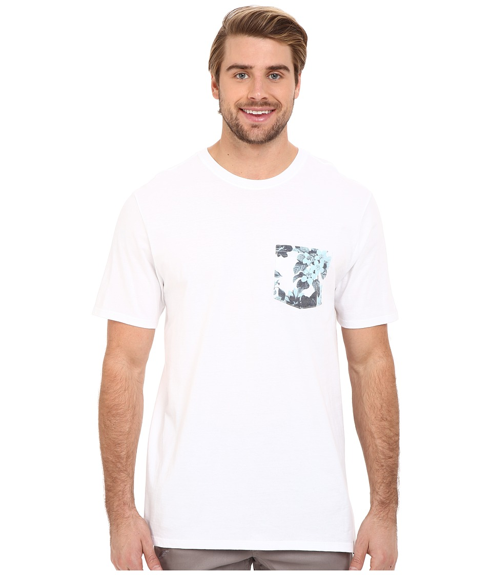 Hurley - Floral Pocket Tee (White) Men's T Shirt