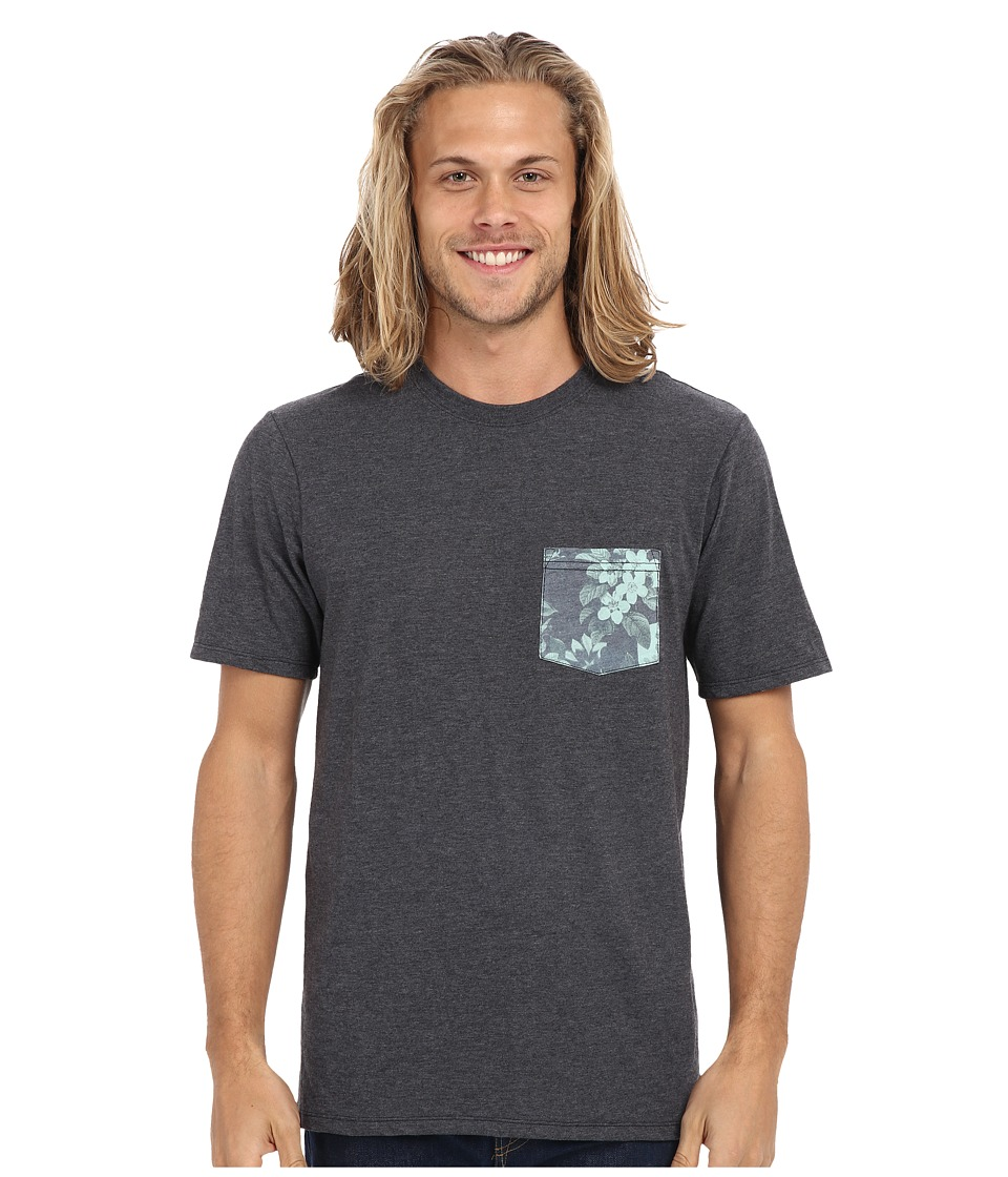 Hurley - Floral Pocket Tee (Heather Black) Men's T Shirt