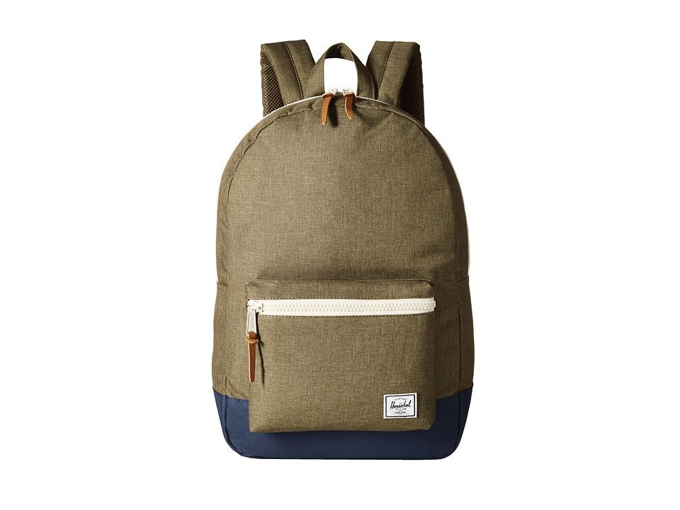 Herschel Supply Co. - Settlement (Beech Crosshatch/Navy/Natural Zipper) Backpack Bags