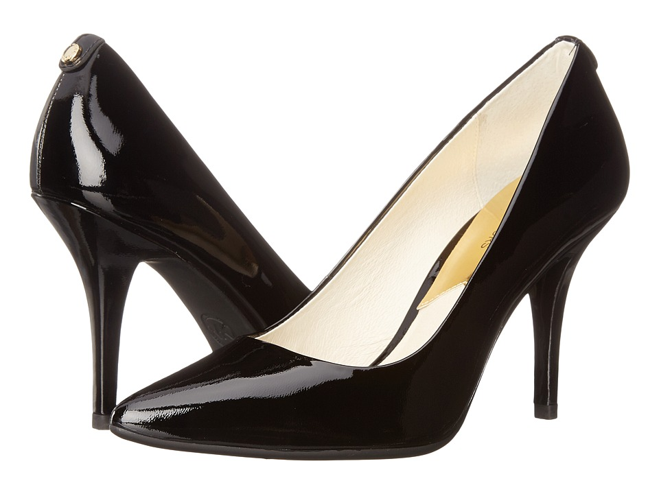 MICHAEL Michael Kors - MK-Flex High Pump (Black Patent) High Heels