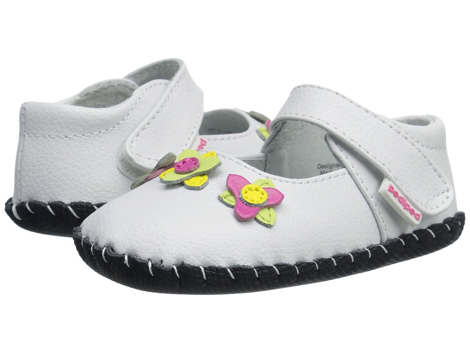 pediped - Salome Originals (Infant) (White Multi) Girls Shoes