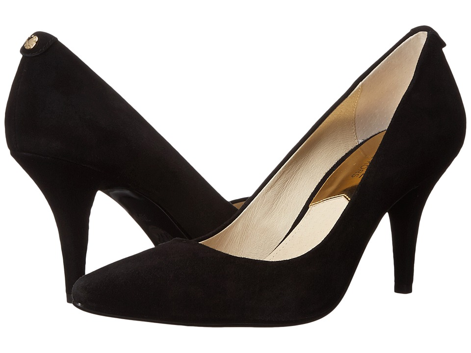 MICHAEL Michael Kors - MK Flex Mid Pump (Black Kid Suede) High Heels