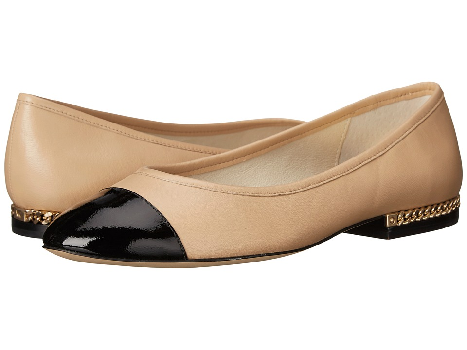 MICHAEL Michael Kors - Sabrina Ballet (Nude Patent/Nappa) Women's Slip on Shoes