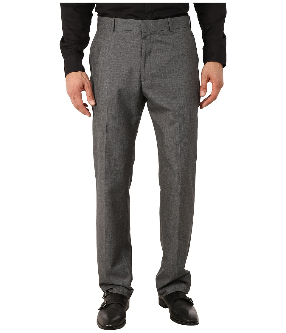 Perry Ellis Portfolio - Modern Fit Neat Pants (Gray Heather) Men's Dress Pants