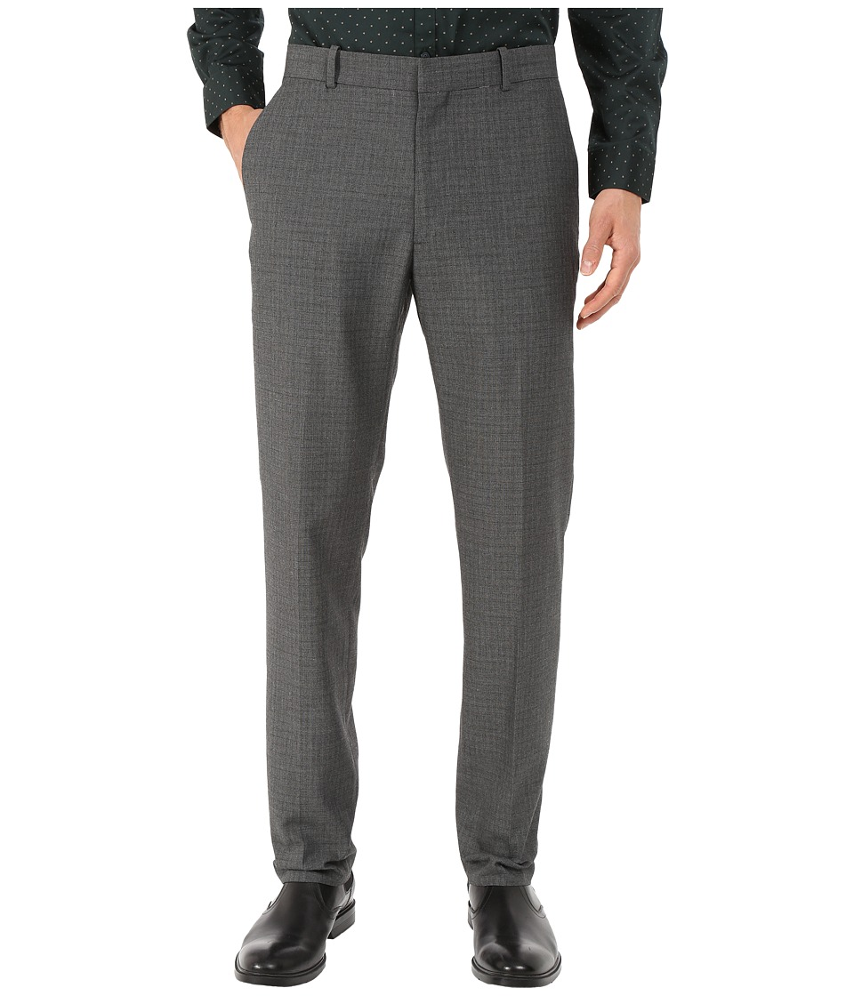 Perry Ellis Portfolio - Slim Fit Subtle Window Pane Pants (Charcoal) Men's Dress Pants