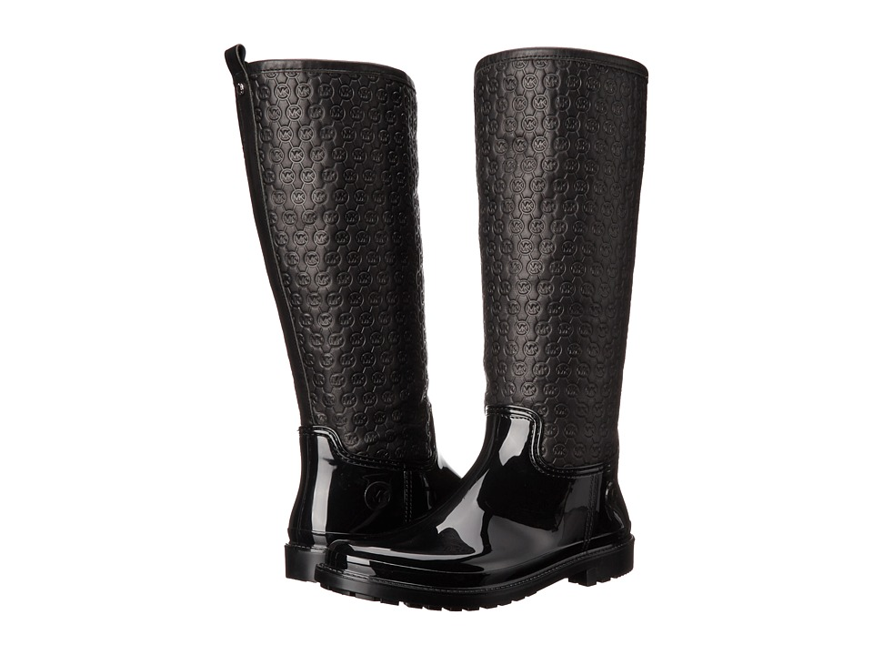 MICHAEL Michael Kors Blakeley Rain Boot (Black Rubber/Vachetta) Women