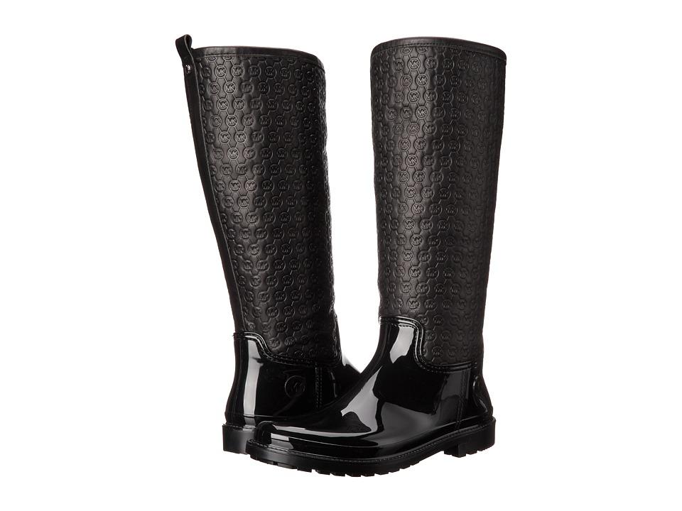 MICHAEL Michael Kors - Blakeley Rain Boot (Black Rubber/Vachetta) Women's Rain Boots