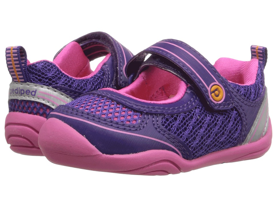 pediped - Racer Grip n Go (Toddler) (Purple) Girls Shoes