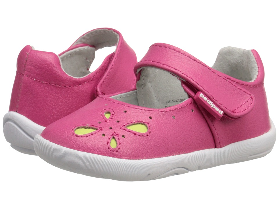 pediped - Antoinette Grip n Go (Toddler) (Fuchsia) Girls Shoes