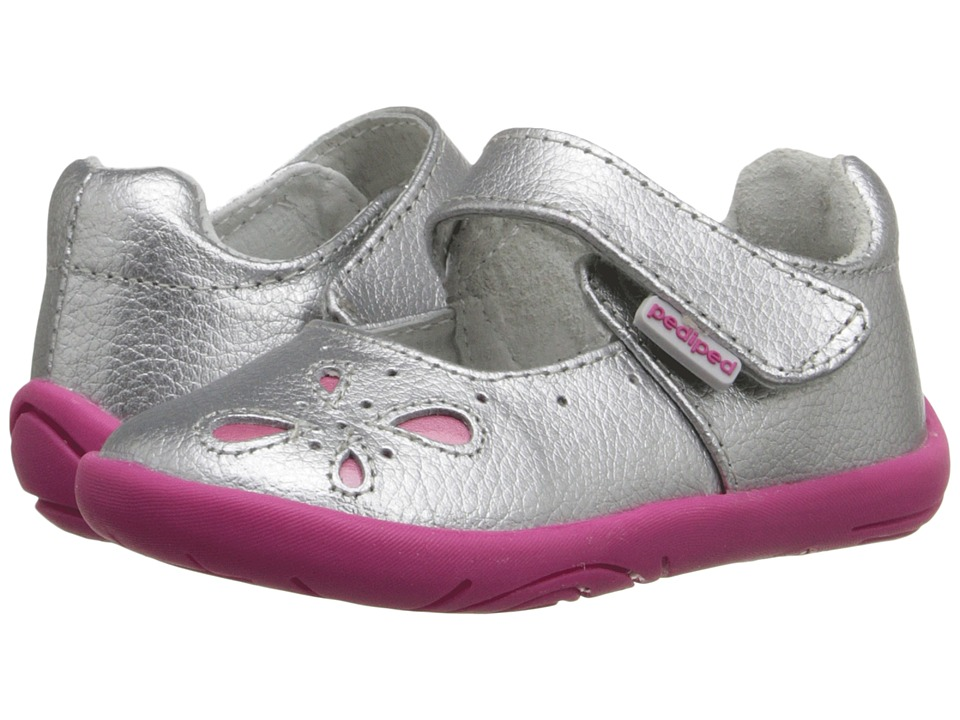 pediped - Antoinette Grip n Go (Toddler) (Silver) Girls Shoes