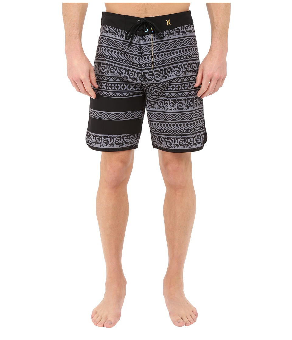 Hurley - Phantom Block Party Cryptik 19 Boardshorts (Black) Men's Swimwear