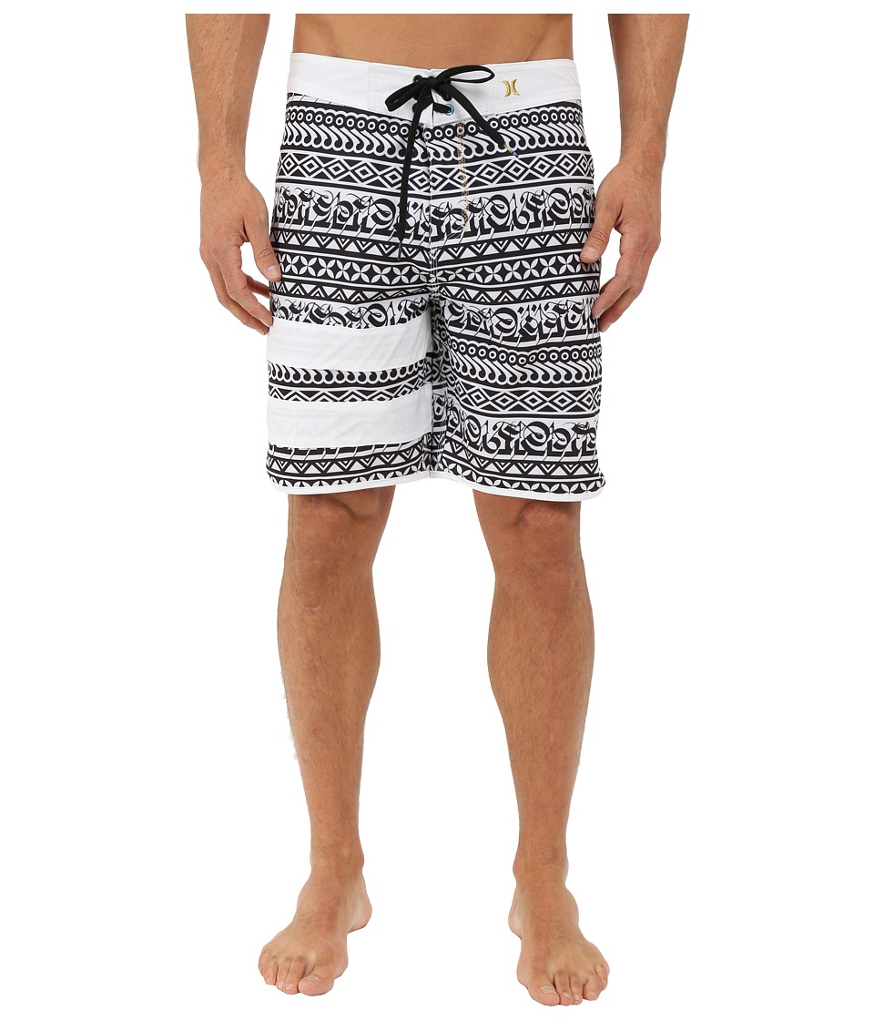 Hurley - Phantom Block Party Cryptik 19 Boardshorts (White) Men's Swimwear