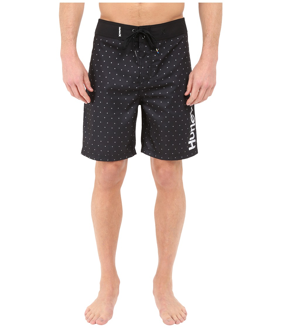 Hurley - Polka 19 Boardshorts (Black) Men's Swimwear