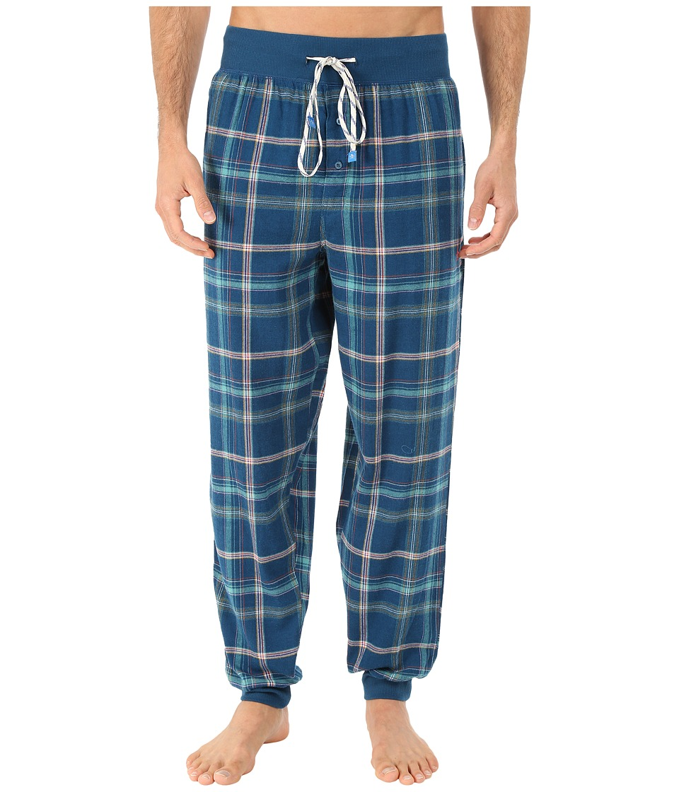 Original Penguin - Cuff Flannel Pants (Poseidon Miami Plaid) Men's Underwear