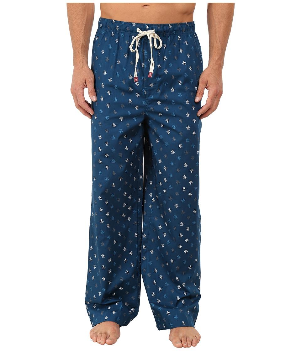 Original Penguin - Penguin Woven Pant (Poseidon Blue) Men's Pajama